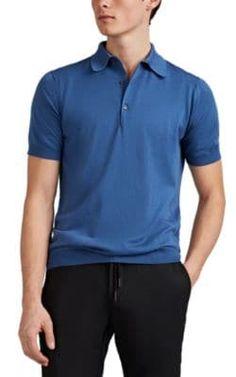 4e1bd2b1 JOHN SMEDLEY FINE-GAUGE SEA ISLAND COTTON POLO SHIRT - BLUE SIZE XL. # johnsmedley #cloth. ModeSens Men