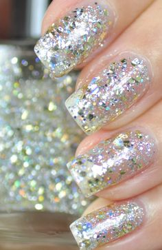 Silver and Gold Glitter Nail Polish