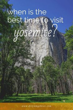 Are you planning a trip to Yosemite National Park and want to know the best time to visit?  I am here to help!  No matter what time of year you visit, your vacation to Yosemite can be awesome.  I will help you know what to expect during each season so you can pick a time and make it happen.  Winter, Summer, Spring, or Fall, Yosemite is a beautiful place to visit.  My goal is to help you turn your road trip or family vacation into a true adventure. Beautiful Places To Visit, Cool Places To Visit, Amazing Places, California National Parks, Yosemite National Park, Yosemite Falls, Hiking With Kids, Winter Travel, Plan Your Trip