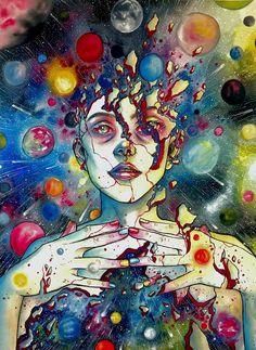ॐ Psychedelic Mind ॐ: fotografia Art And Illustration, Illustrations, Arte Inspo, Psychadelic Art, Psychedelic Drawings, Acid Art, Posca Art, Trippy Painting, Hippie Art