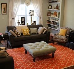 Eclectic and colorful living room - cute