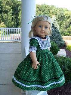 American Girl 1850s Gown for Marie Grace or Cecile. $49.00, via Etsy.