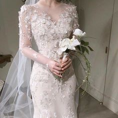 Fancy Wedding Dresses, Sheer Wedding Dress, Classic Wedding Dress, Wedding Dress Trends, Designer Wedding Dresses, Bridal Dresses, Wedding Gowns, Grey Evening Dresses, Dream Dress