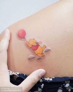 Winnie the Pooh for Janelle. She has sensitive skin, so Bear Tattoos, Mouse Tattoos, Mini Tattoos, Disney Tattoos Small, Small Tattoos, Winnie The Pooh Tattoos, Small Words Tattoo, Mum Tattoo, Cute Little Tattoos