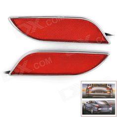 Leaf Style 5.4W 288lm 36-LED 1210 SMD Red Light Car Brake / Safety Alarm Light - Silver + Red