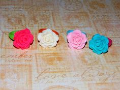 Childrens Set of Rose Rings, Girls Jewelry, Flower Girl Gift, Recital Gift, Accessories by JewelsbyRosies on Etsy