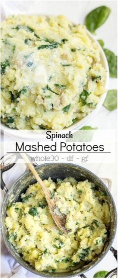 Whole 30 Mashed Potatoes Recipe with Spinach - mashed potatoes - ultimat. - - Spinach Ideen - Whole 30 Mashed Potatoes Recipe with Spinach - mashed potatoes - ultimat. - Whole 30 Mashed Potatoes Recipe with Spinach - mashed potatoes - ultimat. Dairy Free Holiday Recipes, Dairy Recipes, Paleo Dairy, Christmas Recipes, Dairy Free Mashed Potatoes, Recipes With Mashed Potatoes, Whole 30 Potatoes, Cheesy Potatoes, Side Dishes
