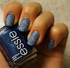 Essie - Lots of Lux + some stamping