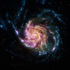 A Pinwheel Galaxy Rainbow - NASA Spitzer Space Telescope