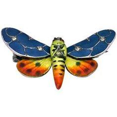 Meyle and Mayer Art Nouveau Jugendstil Enamel Butterfly Pin
