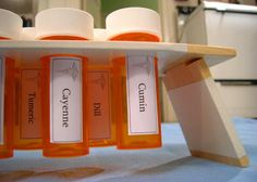 25 Ways to Recycle and Reuse Empty Prescription Pill Bottles - Page 22 of 25 - Fabulous Betty Reuse Pill Bottles, Pill Bottle Crafts, Plastic Bottles, Spice Containers, Spice Jars, Prescription Bottles, Detergent Bottles, Ways To Recycle, Recycle Art
