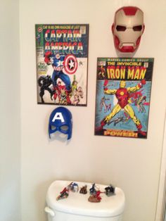 This Would Be Cute In My Boys Bathroom He Loves Super Heros Ofcourse Comic Book Pinterest Kid Bathrooms And Superhero