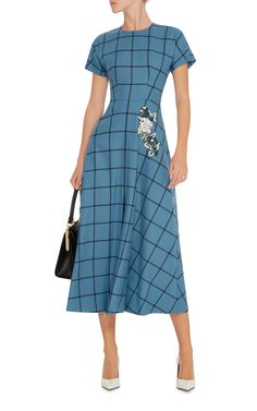 FULL SCREEN Luisa Beccaria Checkerboard Midi Dress €1.380
