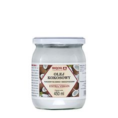 Olej kokosowy tłoczony na zimno - wygodny w użyciu, najwyższej jakości tłuszcz kokosowy tłoczony w Polsce.Idealny do smażenia, pieczenia, gotowania. Coconut Oil, Jar, Food, Essen, Meals, Yemek, Jars, Eten, Glass