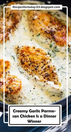 Creamy Garlic Parmesan Chicken Is a Dinner Winner | COOKING RICH