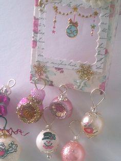 miniature dollhouse christmas ornaments by Mable Malley Miniature Christmas, Christmas Minis, Christmas Themes, Christmas Decorations, Christmas Ornaments, Barbie, Dollhouse Miniatures, Projects To Try, Shabby Chic