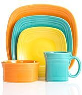 "I love my Fiesta dishes.. =)  My grandmother, ""Nana"", had these and I loved them then and I love them now!  The colors are great - they are kid friendly - durable!  I just love them for their great colors - they make me happy! :)"
