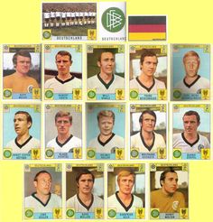 Panini stickers 1970 FIFA World Cup Mexico - West Germany squad