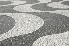Copacabana Beach Sidewalk Design Rio De Janeiro Stock Image - Image of brazilian, tile: 36185631 Copacabana Beach, Stock Image, Canvas Home, Sidewalk, Flooring, Landscape, Outdoor Decor, Tiles, Design