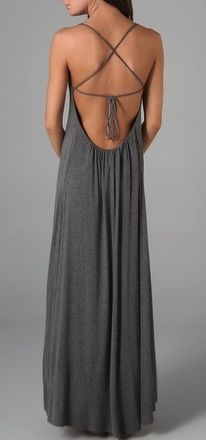 Open back maxi dresses - love the flow, love the detail on the back - you are still a conversation on your way out....