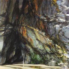 Sarah Adams, Chapel Porth, summer, oil on linen, 100 x 100 cm