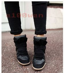 Wedge Trainers Synthetic Leather Shoes for Women Wedged Trainers, Ankle Sneakers, Dress To Impress, Leather Shoes, Wedges, Best Deals, Boots, Clothes, Shopping