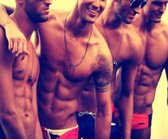 abs on abs on abs ohhh how I love shirtless boys... thank you summer
