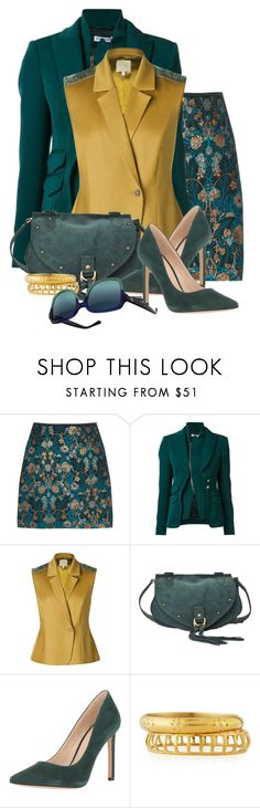 """""""Teal Couture"""" by flowerchild805 ❤ liked on Polyvore featuring Altuzarra, Leka, See by Chloé, Nine West, Ashley Pittman and Tory Burch"""