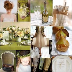 FALL STYLE INSPIRATION - PEAR GREEN + CARAMEL  autumn+green+_+brown+wedding+inspiration+board+_+caramel+pears.jpg 768×768 pixels