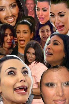 A collage of kim kardashian crying hahahaha kim - Kim kardashian crying collage ...