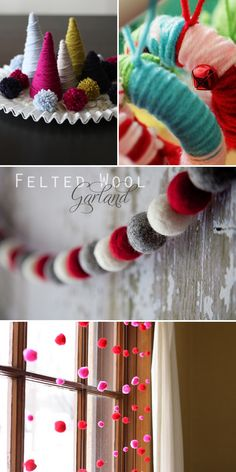 cozy Christmas things...you know I am loving those yarn wrapped trees.  Mine are almost done. :)