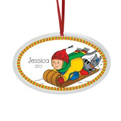Caillou Christmas ornaments... to remember this stage in her life while she was OBSESSED with him