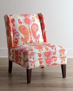 Seating - Fruitata Chair I Horchow - coral pink and orange