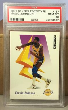 1991 SKYBOX PROTOTYPE #137 MAGIC JOHNSON PSA 10 GEM MINT LA LAKERS HOF