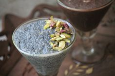 Healthy no cook pudding made using chia seeds and almond milk. This is a great way to start a day. Super delicious and healthy.