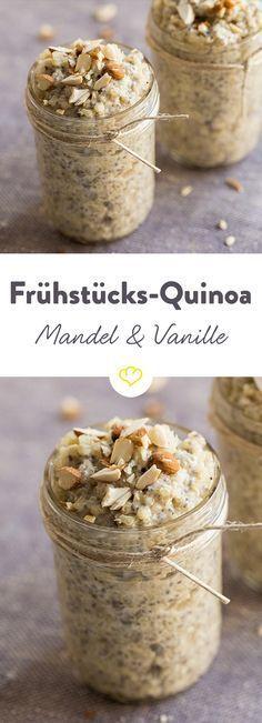 Quinoa und Chia-Samen in einem Frühstück vereint - besser geht's nicht. So bist du gleich am Morgen mit allen wichtigen Mineral- und Nährstoffen versorgt.