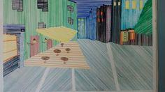 """""""El café de Paris"""" versión lineas, impresionante, gracias Cristina!"""