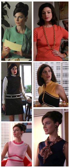 Megan Draper's work outfits on 'Mad Men'  ---  Costume Designer: Janie Bryant