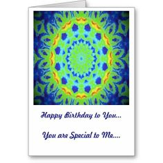 Birthday Card Green and Yellow Kaleidoscope Design http://www.zazzle.com/birthday_card_green_and_yellow_kaleidoscope_design-137062959671997890