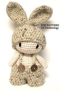Crochet Chunky Bunny, Amigurumi Rabbit, Super Chunky Bunny, Crochet Toy, Crochet Rabbit, Bunny PATTERN, PDF Tutorial, Crochet Stuffed Toy by PinkMouseBoutique on Etsy https://www.etsy.com/listing/275911982/crochet-chunky-bunny-amigurumi-rabbit