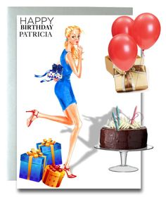 """Happy Birthday Patricia"" by beleev ❤ liked on Polyvore featuring art"