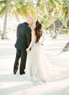 Elegant Florida Keys Wedding   KT Merry Photography   Custom Trash Couture Bridal Gown   Amoursans Anguish bridesmaids dresses