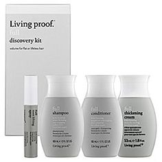 Living Proof - Full Discovery Kit  :: 4 pieces of travel-size products that add luxurious volume to flat, lifeless hair. Full Shampoo, Full Conditioner, Full Thickening Cream, Full Root Lift