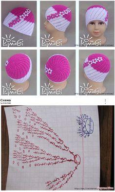 Patrón gorro crochet Enlace: http://www.liveinternet.ru/users/3961280/post282456769/