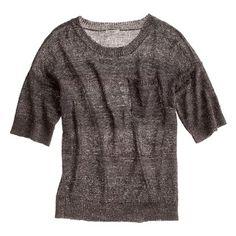 Metallic Meshwork Sweater-Top