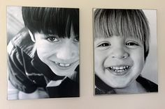 Enjoying the simple things: Canvas art - a quick & easy DIY using regular photos Diy Canvas Art, Diy Wall Art, Canvas Ideas, Cute Crafts, Crafts To Make, Creative Crafts, Photos Onto Canvas, Canvas Pictures, Photo Projects