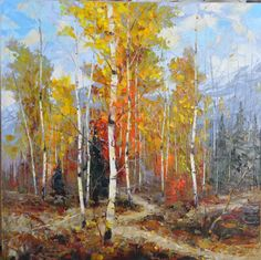 Color of Fall, 30 x 30, Oil on Canvas by Dean Bradshaw for a Scottsdale art gallery
