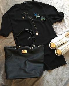 """425 """"Μου αρέσει!"""", 17 σχόλια - styliciouss Life (@styliciousslife) στο Instagram: """"Day till night !! . . Dress + shoes +sunglasses: @primark Bag : @hunkemoller_gr  Necklace :…"""""""