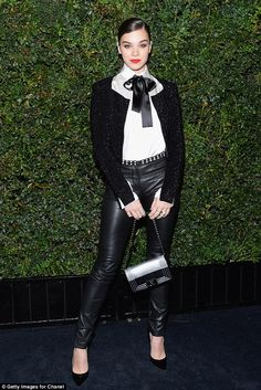 Look classic in Chanel like Hailee Steinfeld  Click 'visit' to buy it now   #DailyMail