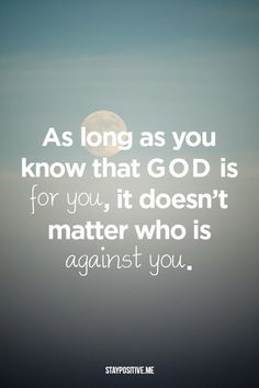 And if our god is for us then who could ever stop us? And if our god is with us then what could stand against?